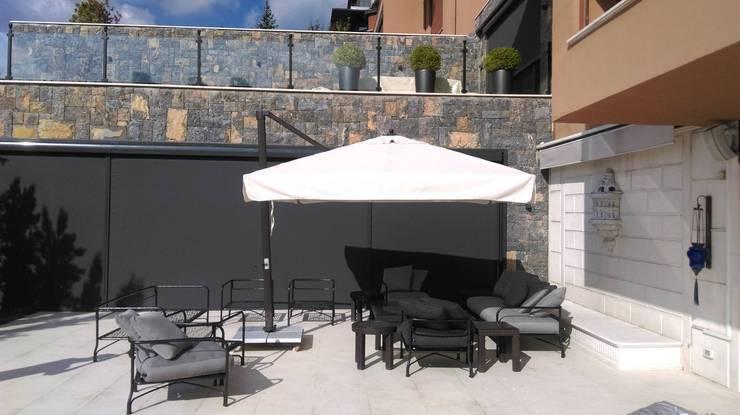 Akaydın şemsiye – Yandan Gövdeli bumlu şemsiye:  tarz Bahçe, Akdeniz Aluminyum/Çinko