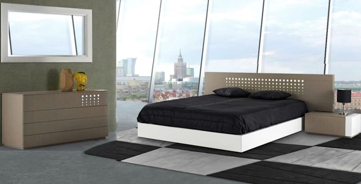 Mobiliário moderno de quarto Modern furniture of Bedroom: Quarto  por Intense mobiliário e interiores;