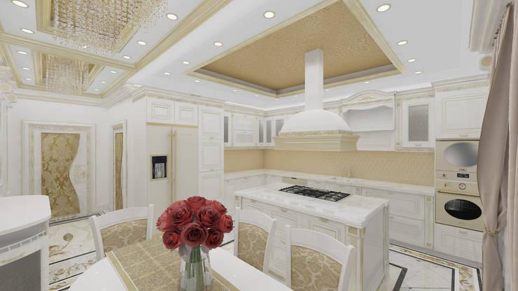 Altuncu İç Mimari Dekorasyon – Katar villa mutfak projesi:  tarz Mutfak, Klasik