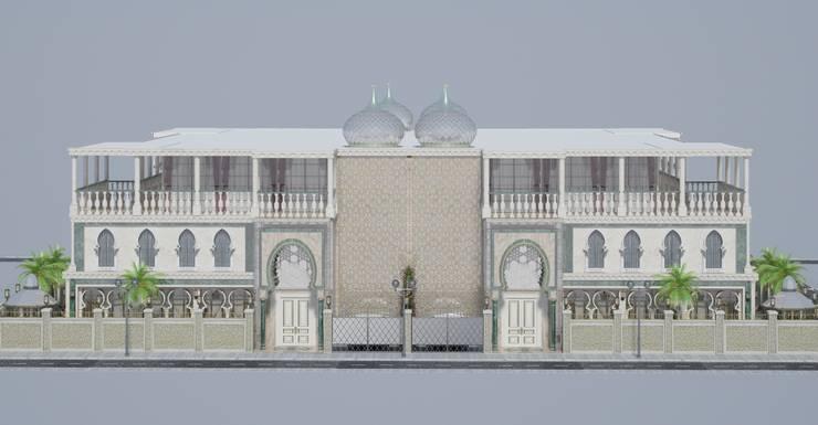 Altuncu İç Mimari Dekorasyon – Katar Villa Tasarım Projesi 1:  tarz Evler, Klasik