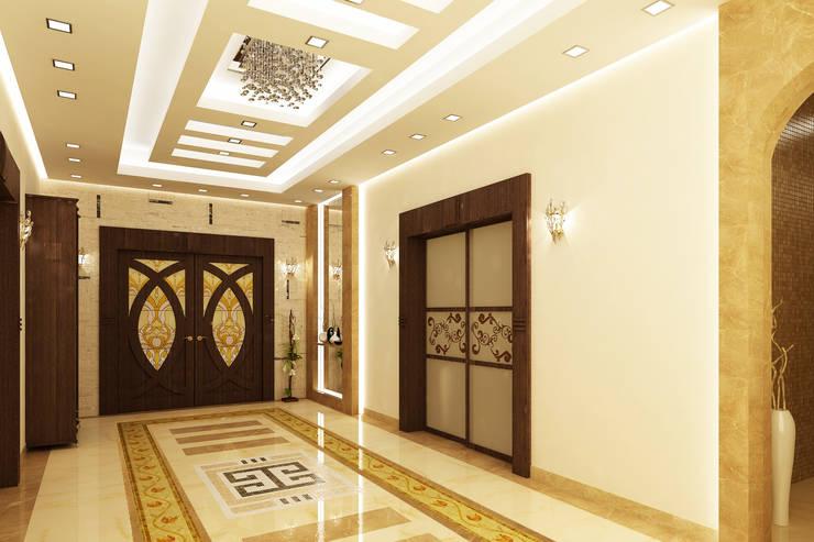 تصاميم داخلية فيلا سكنية (1):  سلالم وأروقة  تنفيذ rashaatalla