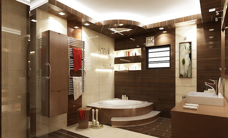 modern Bathroom تنفيذ rashaatalla