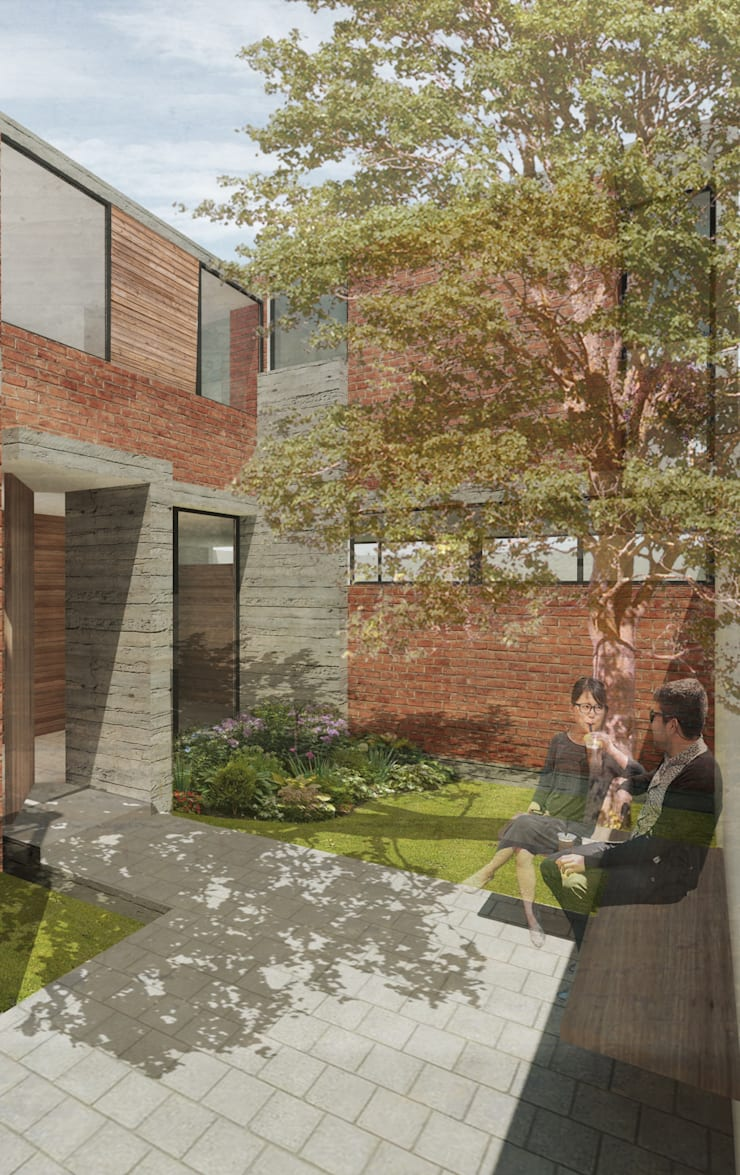 ACCESO: Jardines de estilo  por 75 Arquitectura