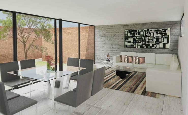 AREA SOCIAL: Salas de estilo  por 75 Arquitectura