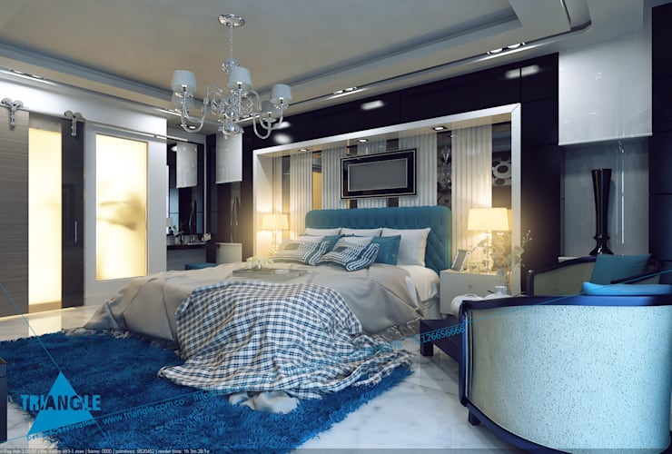 Bedroom by triangle