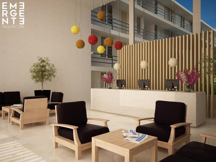 LOBBY : Hoteles de estilo  por EMERGENTE   Arquitectura