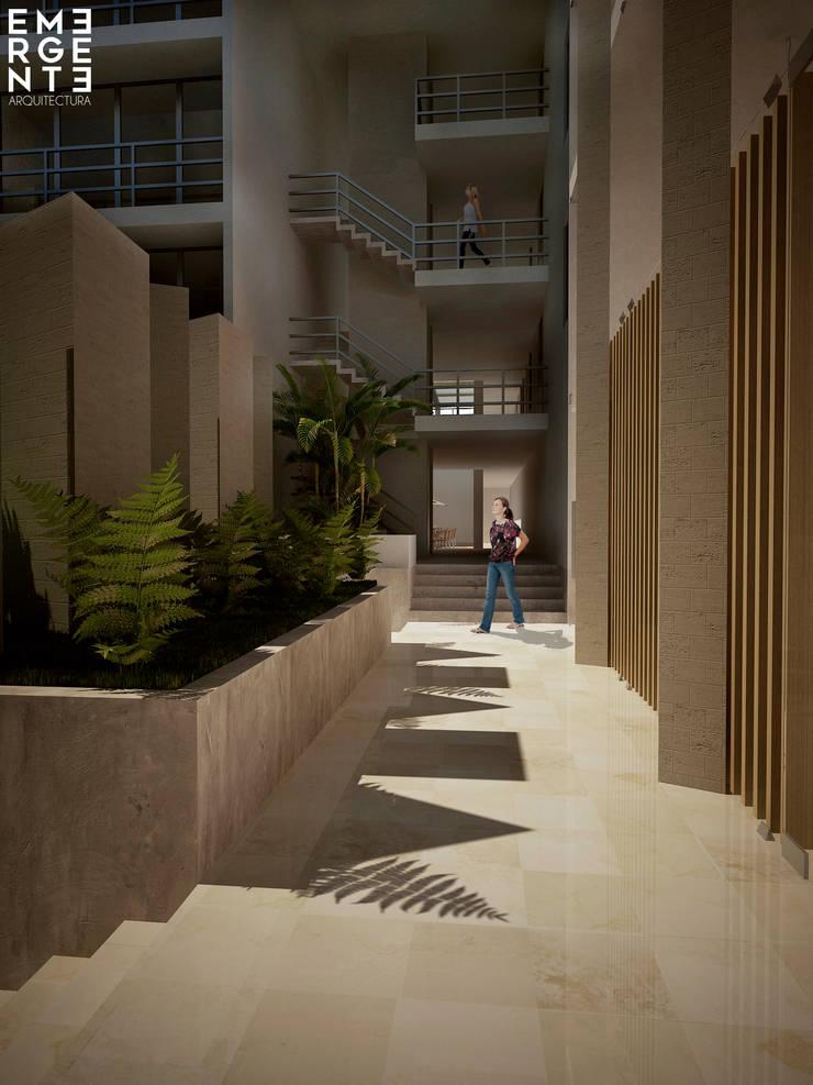 CIRCULACIONES: Hoteles de estilo  por EMERGENTE   Arquitectura