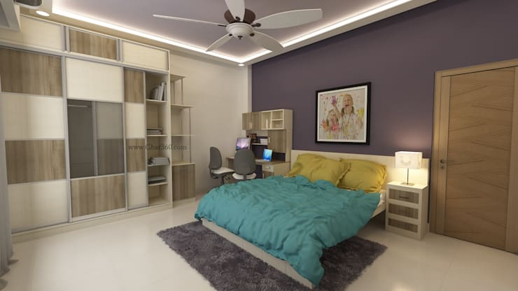 Kids Bedroom Wardrobe:   by Ghar360
