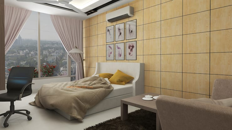 Guest Bedroom:   by Ghar360