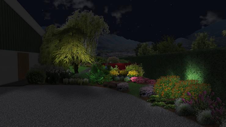 Jardin sinueux: Jardin de style  par Anthemis Bureau d'Etude Paysage