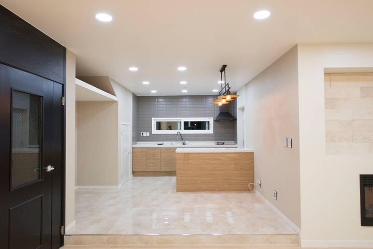ห้องครัว by 피앤이(P&E)건축사사무소