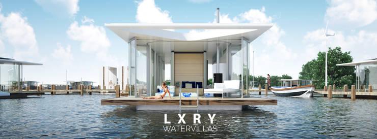 Eco Ville #02:  Huizen door LXRY Watervillas, Modern Glas