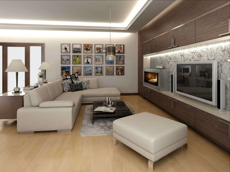 Living room by VERO CONCEPT MİMARLIK