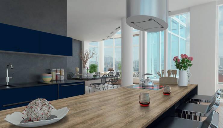 La Línea Premium FORMICA ofrece novedosos diseños y acabados especiales.: Cocinas de estilo  por FORMICA Venezuela