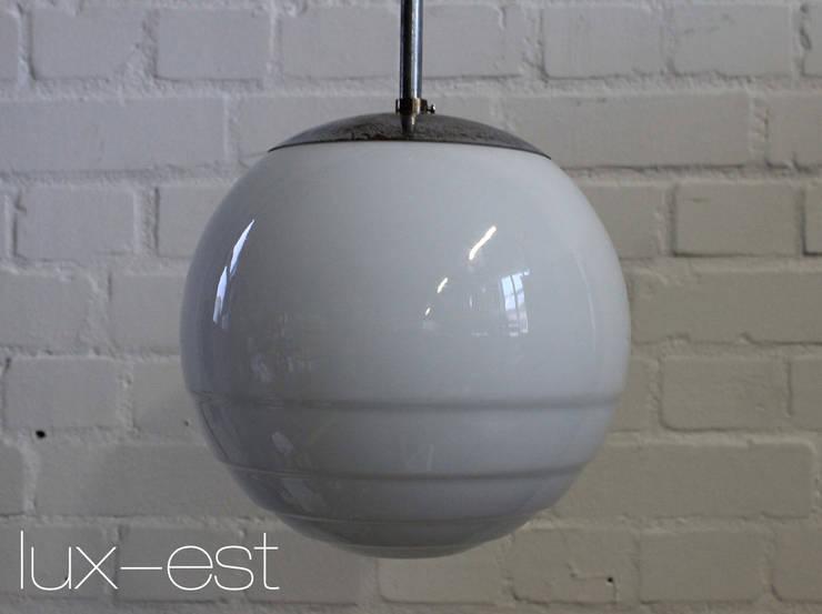 Rosa M Bauhaus Design Pendel Lampe Opal Glas Vintage By Lux Est
