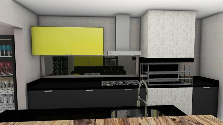 Cozinha com churrasqueira: Cozinhas  por Studio²