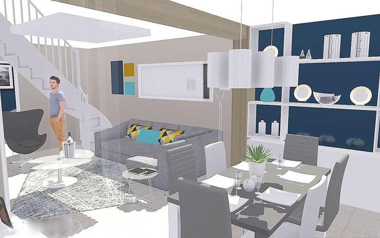 Modélisation 3D:  de style  par Louise EDOUIN TD Architecture Rouen