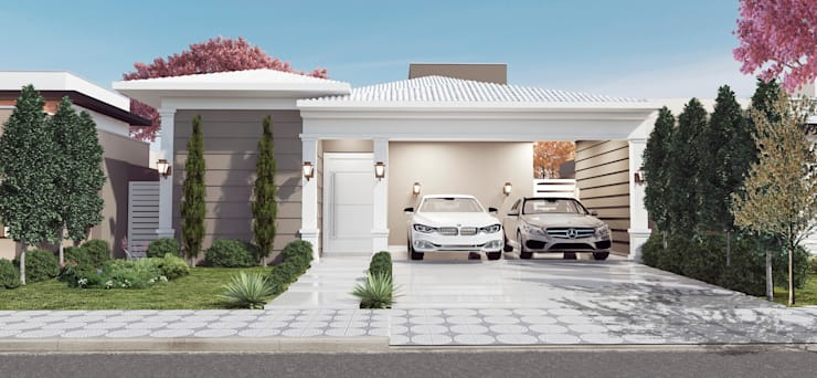 Casas de estilo  por Celis Bender Arquitetura e Interiores