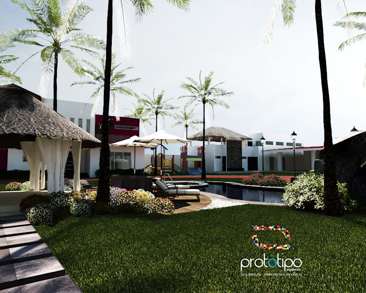 Terraza Sebastian: Terrazas de estilo  por Prototipo Arquitectos