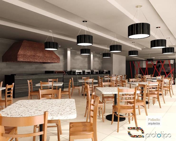 Great Room: Hoteles de estilo  por Prototipo Arquitectos, Moderno