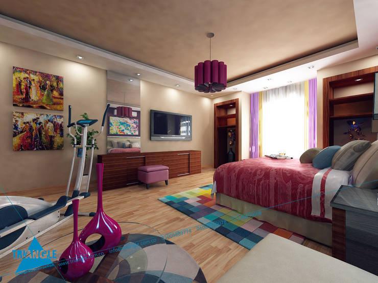 first floor:  غرفة نوم تنفيذ triangle