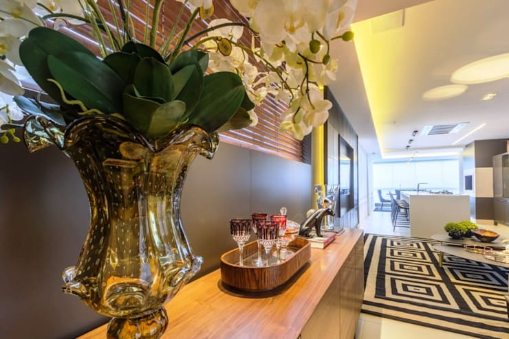 Apartamento Cobertura: Corredores e halls de entrada  por Spengler Decor