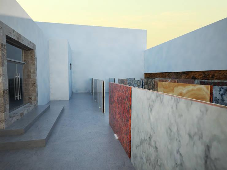 Galeria de Piedra: Espacios comerciales de estilo  por Spacio Diseño Construcción