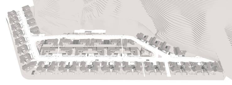 """행복도시 """"이이불이(異而不異)"""" 단독주택 특화단지 설계공모 : 서가 건축사사무소의  주택"""
