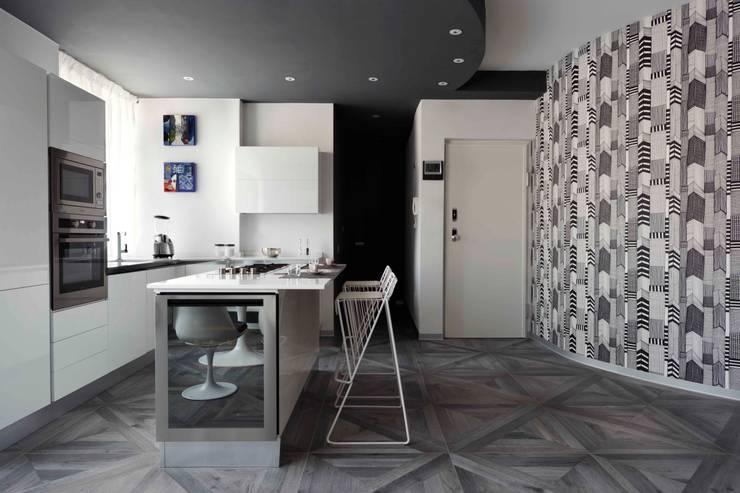 Casa anni 60 trasformata in moderno appartamento con living open ...