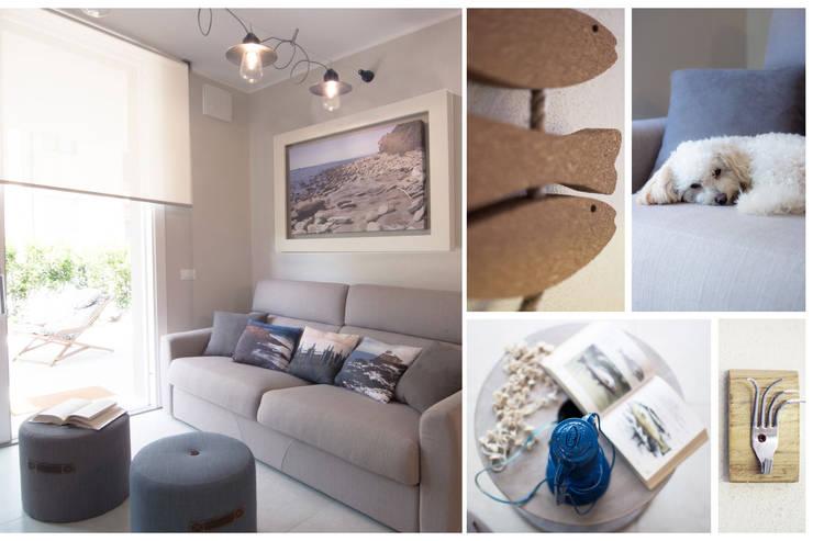ห้องนั่งเล่น by Rachele Biancalani Studio