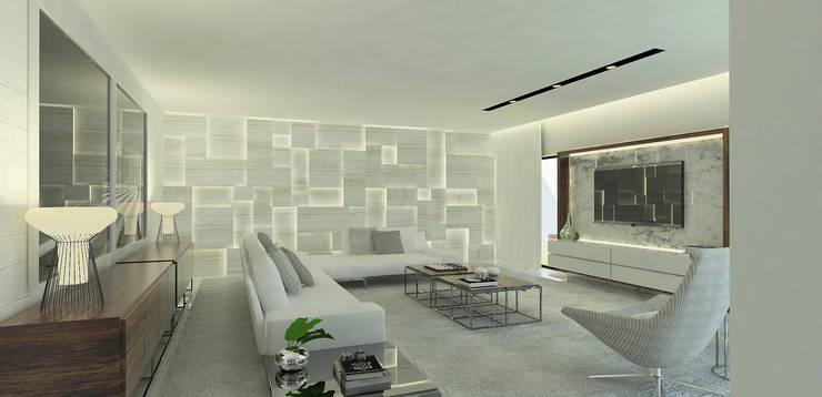 Salas de estar  por OGO ARQUITECTOS