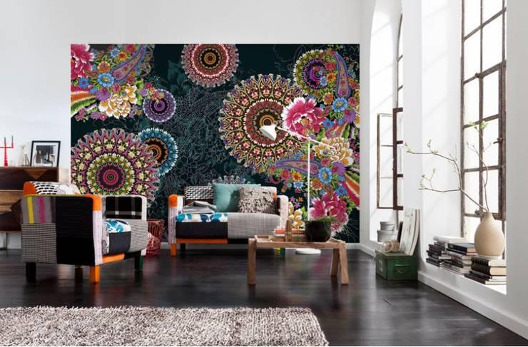 Papel de parede Wallpaper  CORRO http://intense-mobiliario.com/pt/fotomurais/4621-fotomural-corro.html?search_query=Fotomural+Corro&results=1: Casa  por Intense mobiliário e interiores;
