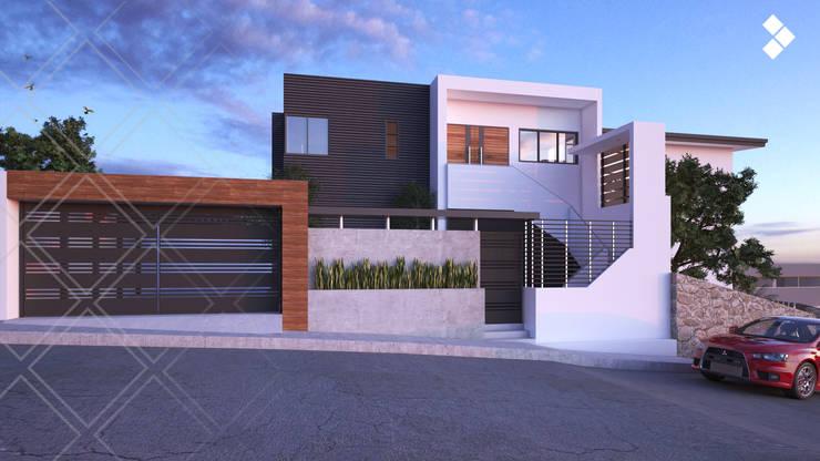 Fachada: Casas de estilo  por CDR CONSTRUCTORA
