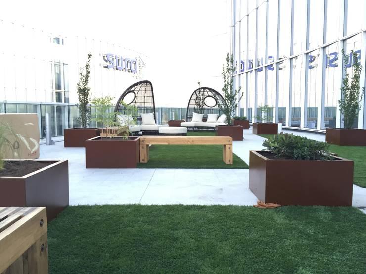 Proyecto Portal Inmobiliario: Terrazas  de estilo  por Ensamble Arquitectura y Diseño Ltda.
