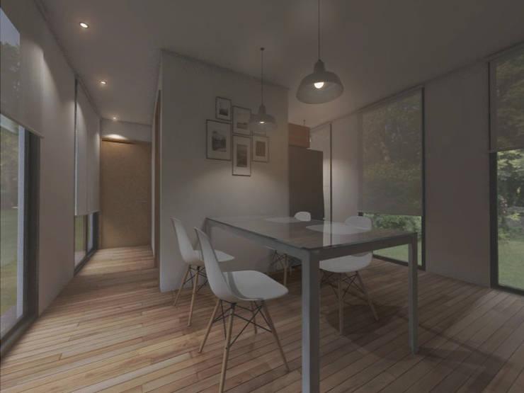 INTERIORES / VIVIENDA M / EDICION CAPSULA / TU CASA: Comedores de estilo  por VHA Arquitectura