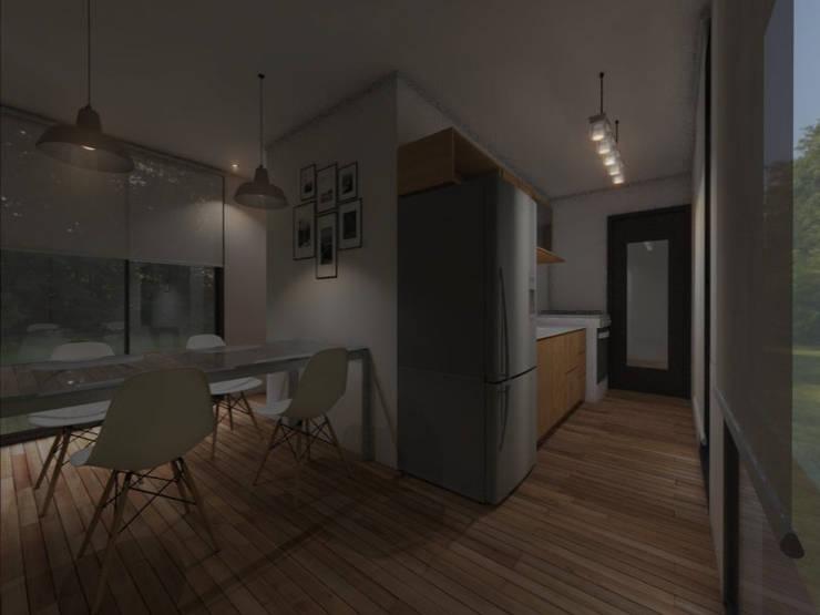 INTERIORES / VIVIENDA M / EDICION CAPSULA / TU CASA: Cocinas de estilo  por VHA Arquitectura