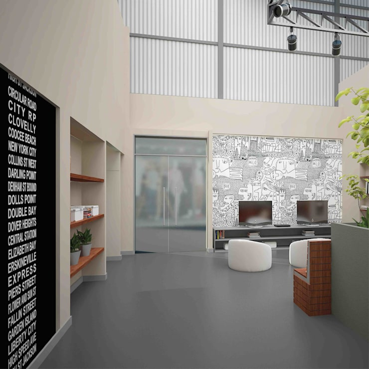 Call Center IONES: Oficinas y Tiendas de estilo  por Grupo Madero