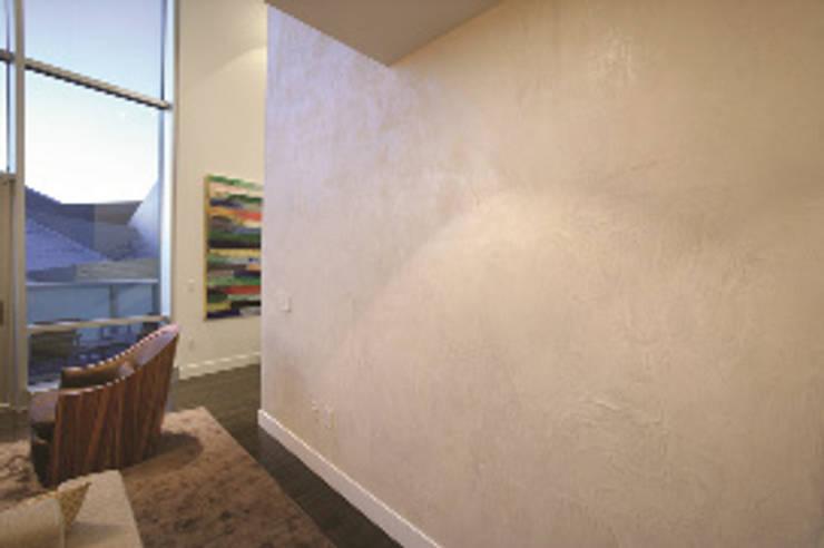 alle ruimtes in woningen, kantoren, scholen en openbare gebouwen:  Woonkamer door American Clay