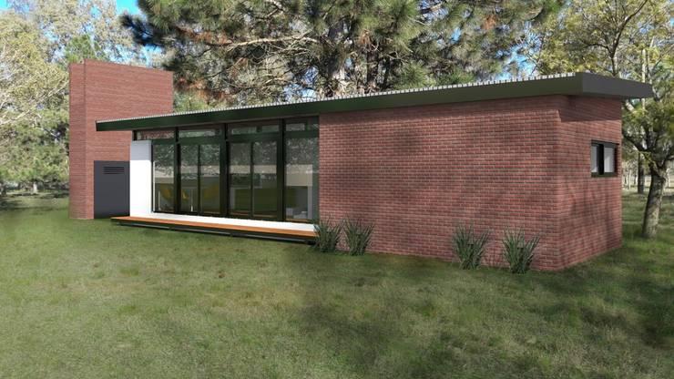 FACHADA / VIVIENDA R / EDICION CAPSULA / TU CASA: Casas de estilo  por VHA Arquitectura