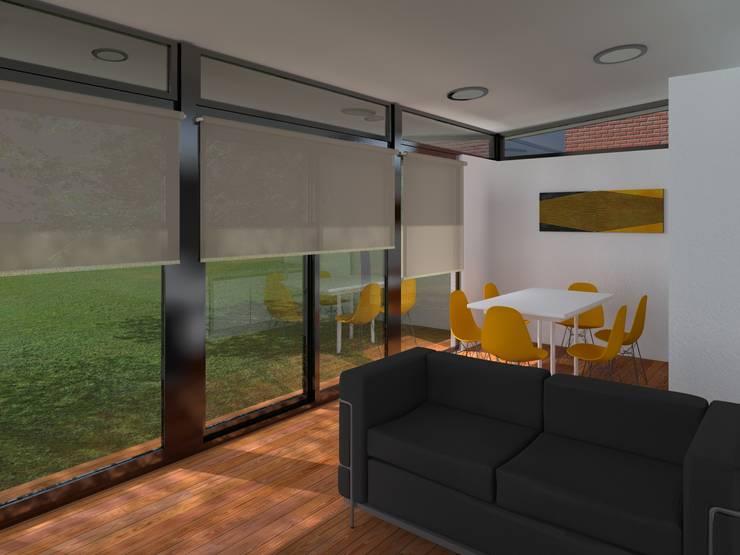 INTERIORES / VIVIENDA R / EDICION CAPSULA / TU CASA: Comedores de estilo  por VHA Arquitectura