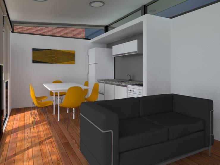 INTERIORES / VIVIENDA R / EDICION CAPSULA / TU CASA: Cocinas de estilo  por VHA Arquitectura
