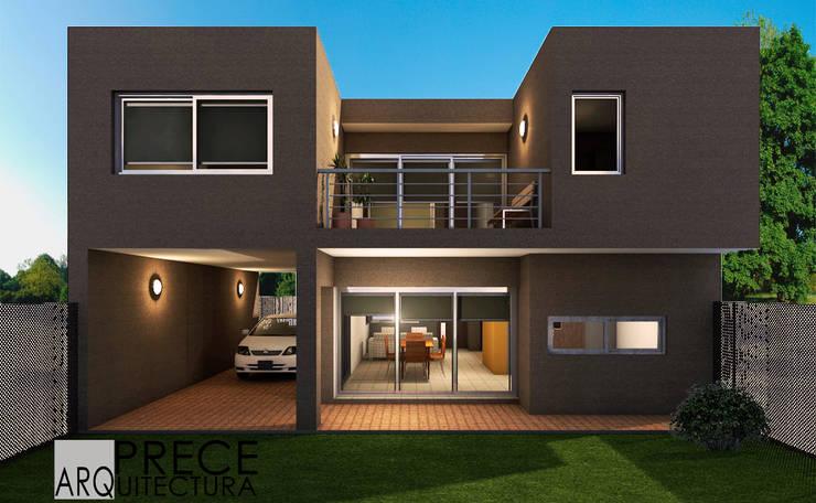 Casa PS:  de estilo  por Prece Arquitectura