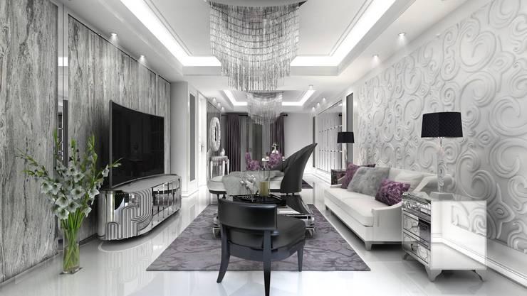 Altuncu İç Mimari Dekorasyon – Salon tasarımı:  tarz Oturma Odası
