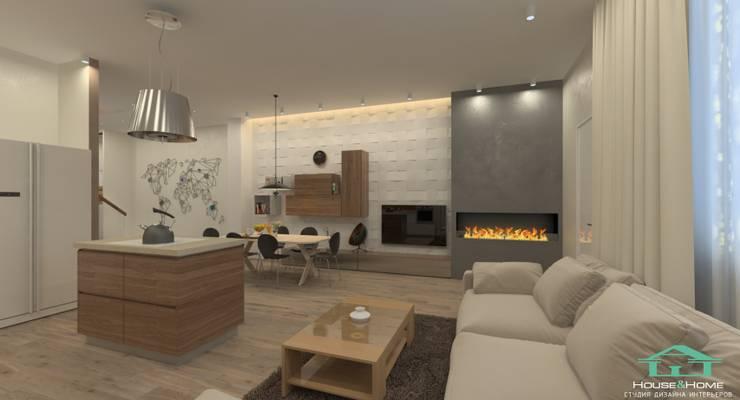 غرفة المعيشة تنفيذ HOUSE&HOME
