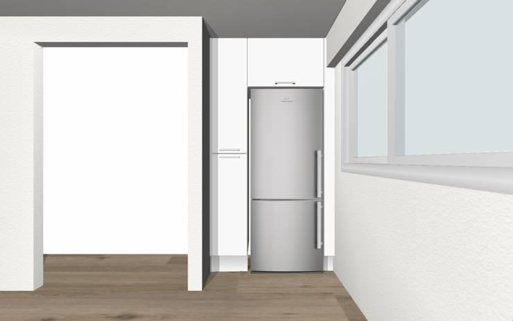 Remodelação de Cozinha - Apartamento:   por ARCUCINE - Cozinhas e Equipamentos, Lda
