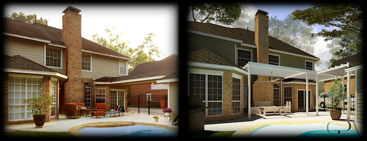 Family House Rendering: Jardines de estilo  por GPA studio