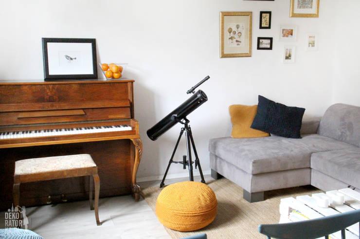 غرفة المعيشة تنفيذ dekoratorka.pl