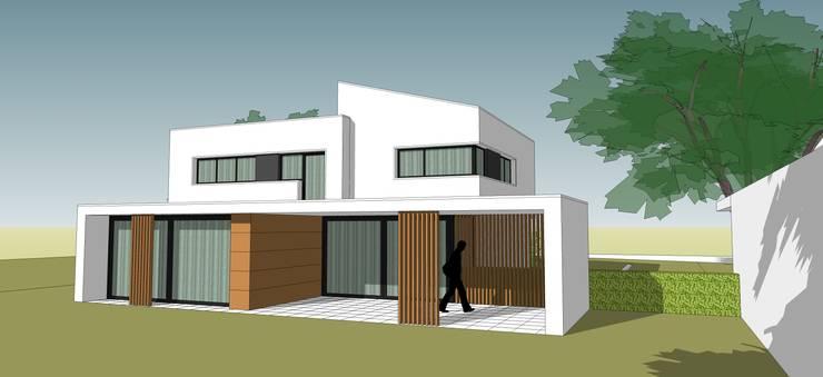 Villa met praktijk te Born, Nederland:  Huizen door FWP architectuur BV