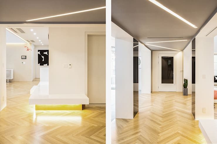 The Modern Square _용인 타운하우스: 지오아키텍처의  복도 & 현관,모던