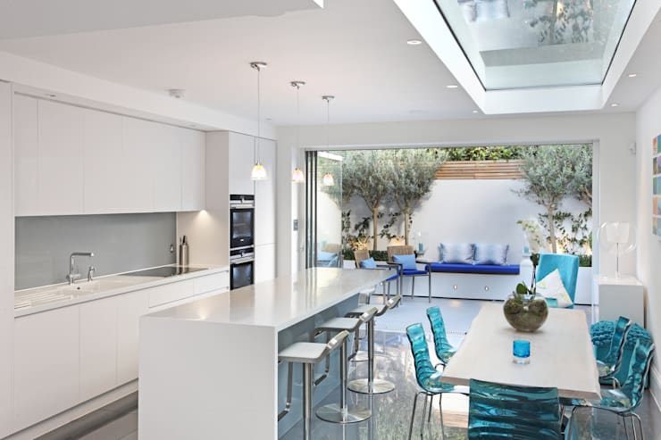 Battersea Town House: modern Kitchen by PAD ARCHITECTS